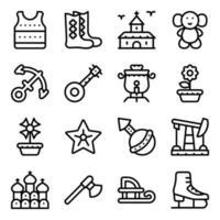 Russische traditionele elementen vector