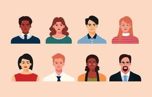 zakenmensen avatar in vlakke stijl vector