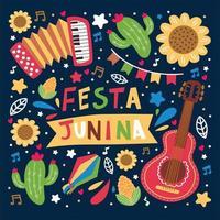 kleurrijk festa junina-festival vector