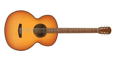 een akoestische gitaar vector