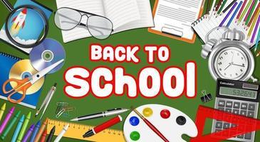 terug naar school met studieobject vector