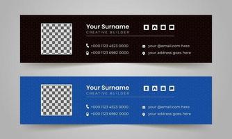 professionele multifunctionele zakelijke e-mailhandtekening lay-out vector ontwerpsjabloon.