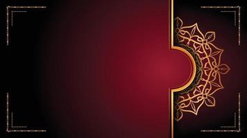 luxe mandala achtergrond ontwerpsjabloon vector