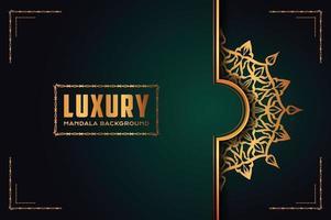 luxe mandala sierontwerp als achtergrond met gouden arabesk patroonstijl. decoratief mandala-ornament voor print, brochure, banner, omslag, poster, uitnodigingskaart. vector