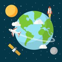 Earth Globe achtergrond Vector