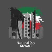 viering van de nationale feestdag van Koeweit vector