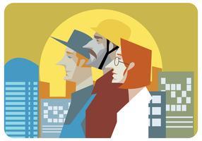 Werknemers illustratie Vector