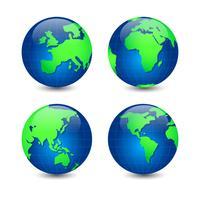 Vector Set van Globe Earth