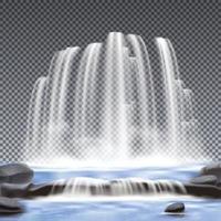 watervallen realistische vectorillustratie vector
