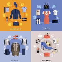 kleding plat concept vector