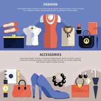 kleding concept set vector