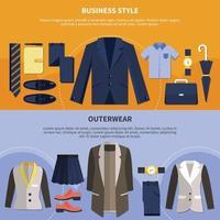 twee kledingcompositieset vector