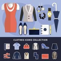 kleding icoon collectie vector