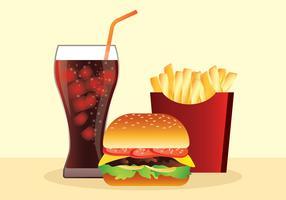 Realistisch snel voedsel vector