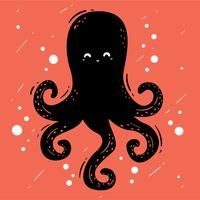 Zwarte Octopus Vector