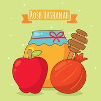 cartoon rosh hashanah element vector