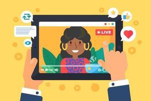 vrouwelijke web streamer concept illustratie vector