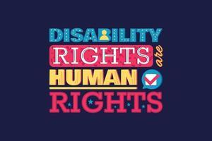 rechten beschermen van mensen met een handicap menselijke gelijkheid vector