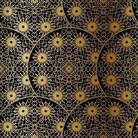 gouden luxe kunst mandala boho naadloze patroon vector
