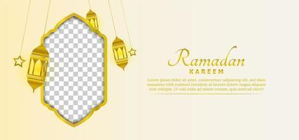 ramadan kareem achtergrond sjabloon vector