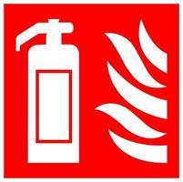 brandblusser symbool teken isoleren op witte achtergrond, vector illustratie eps.10