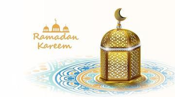 ramadan kareem-ontwerp met gouden Arabische lamp. vector illustratie.