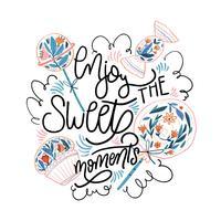 Aquarel Sweet, snoepjes en Cupcake met letters vector