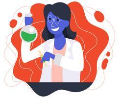 Vrouwelijke wetenschapper illustratie