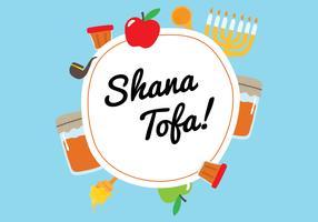 Shana Tova kaart achtergrond vector