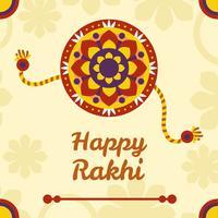 Gelukkige Rakhi-ontwerpvector vector