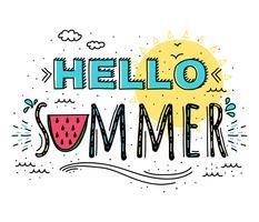 Hallo zomer typografie Vector