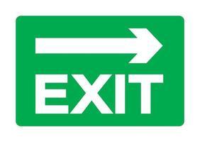 exit groen teken isoleren op witte achtergrond, vector illustratie eps.10