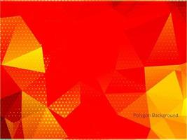 moderne kleurrijke geometrische veelhoekachtergrond vector
