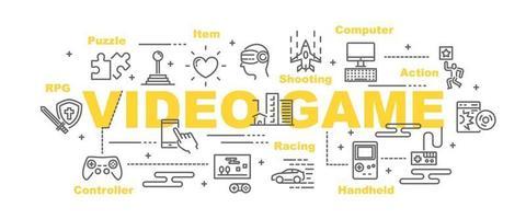 videogame vector banner
