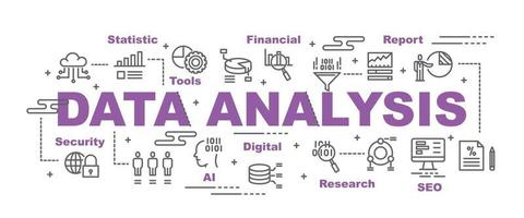 gegevensanalyse vector banner