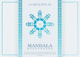 blauwe kleurovergang mandala achtergrond concept vector