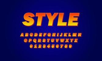 stijl lettertype alfabet vector