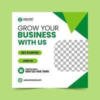 groene sociale media post ontwerpsjabloon vector