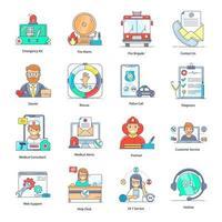 helpcentrum en klantenondersteuning vector