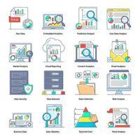 gegevensverzameling en marktanalyse vector