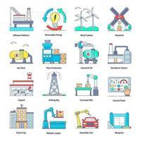 industriële robotica-elementen vector