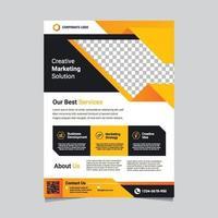 moderne frisse zakelijke flyer-sjabloon vector