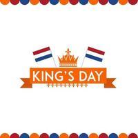 het nederlandse koningen dag behang vector