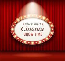 bioscoop theater frame retro vectorillustraties. vector