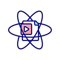 dynamische webpagina RGB-kleur pictogram vector