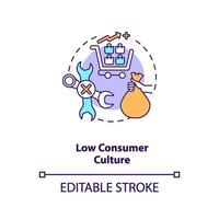 lage consumentencultuur concept icoon vector