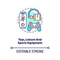 speelgoed, vrijetijds- en sportuitrusting concept pictogram vector