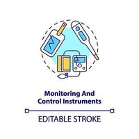 monitoring en controle instrumenten concept pictogram vector