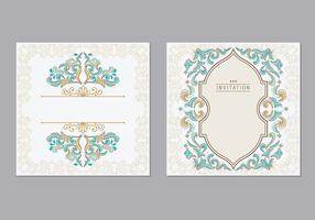 Wenskaart of uitnodiging islamitische stijl vector