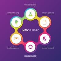 Vectorcirkelelementen die voor Infographic-Malplaatje worden geplaatst